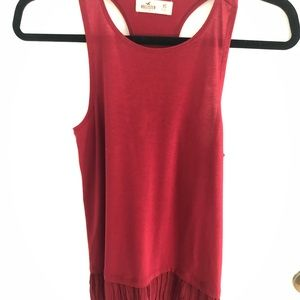 Red racer back tank